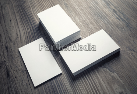 piles of blank business cards