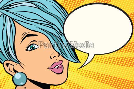 beautiful, woman, with, short, hair, , comic - 22702771
