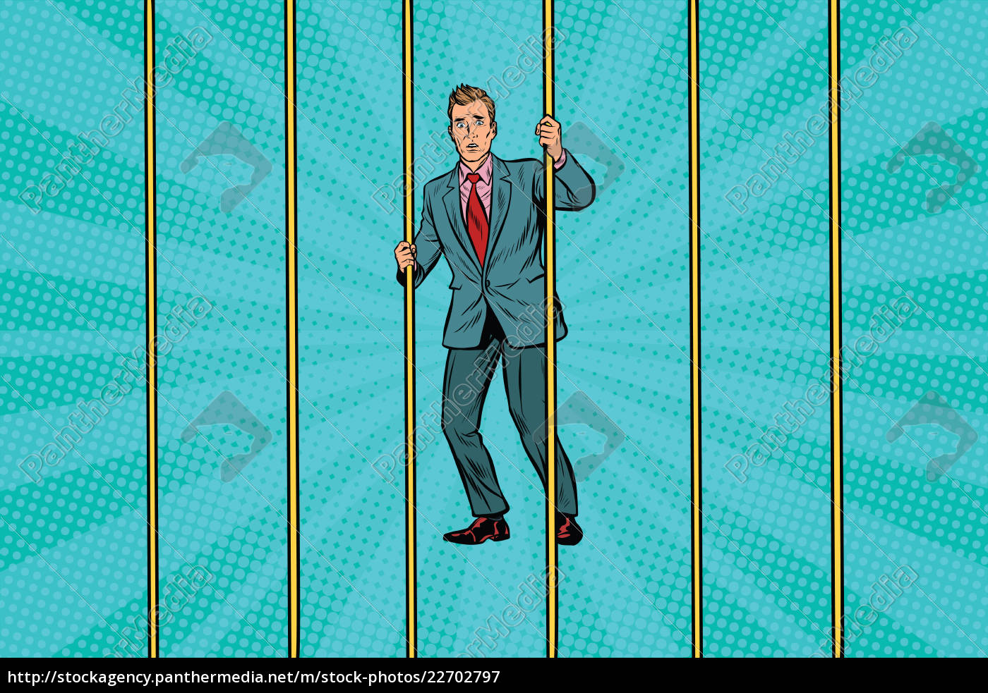 businessman, in, prison, for, the, bars - 22702797