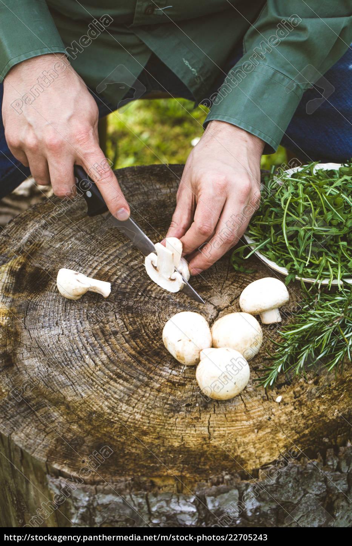 preparing, food, on, wood - 22705243