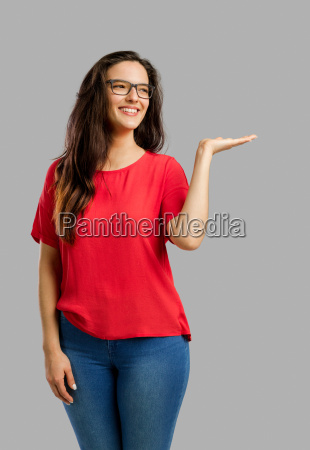 happy, woman, pointing, to, the, camera - 22707083