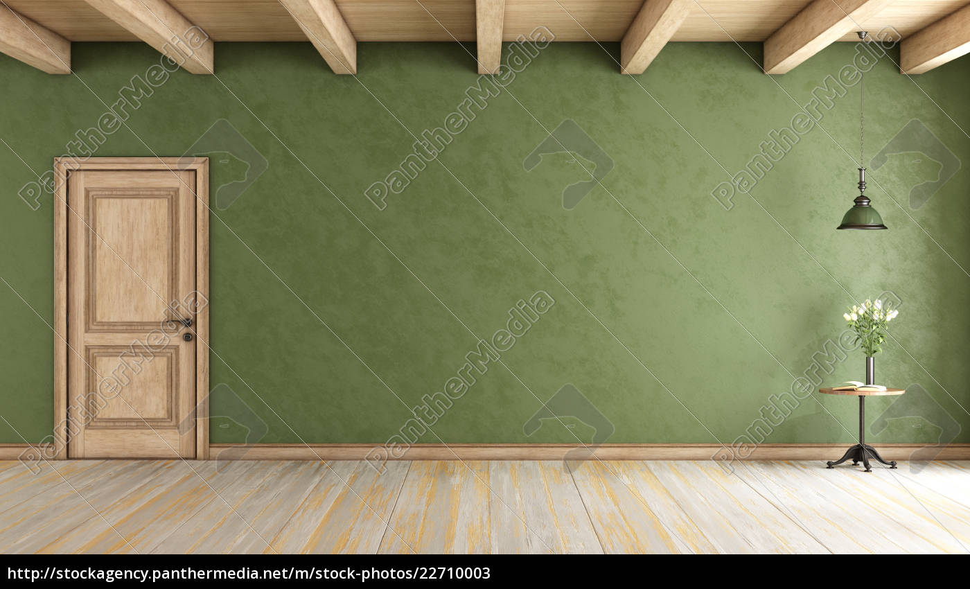 classic, green, room, with, door - 22710003