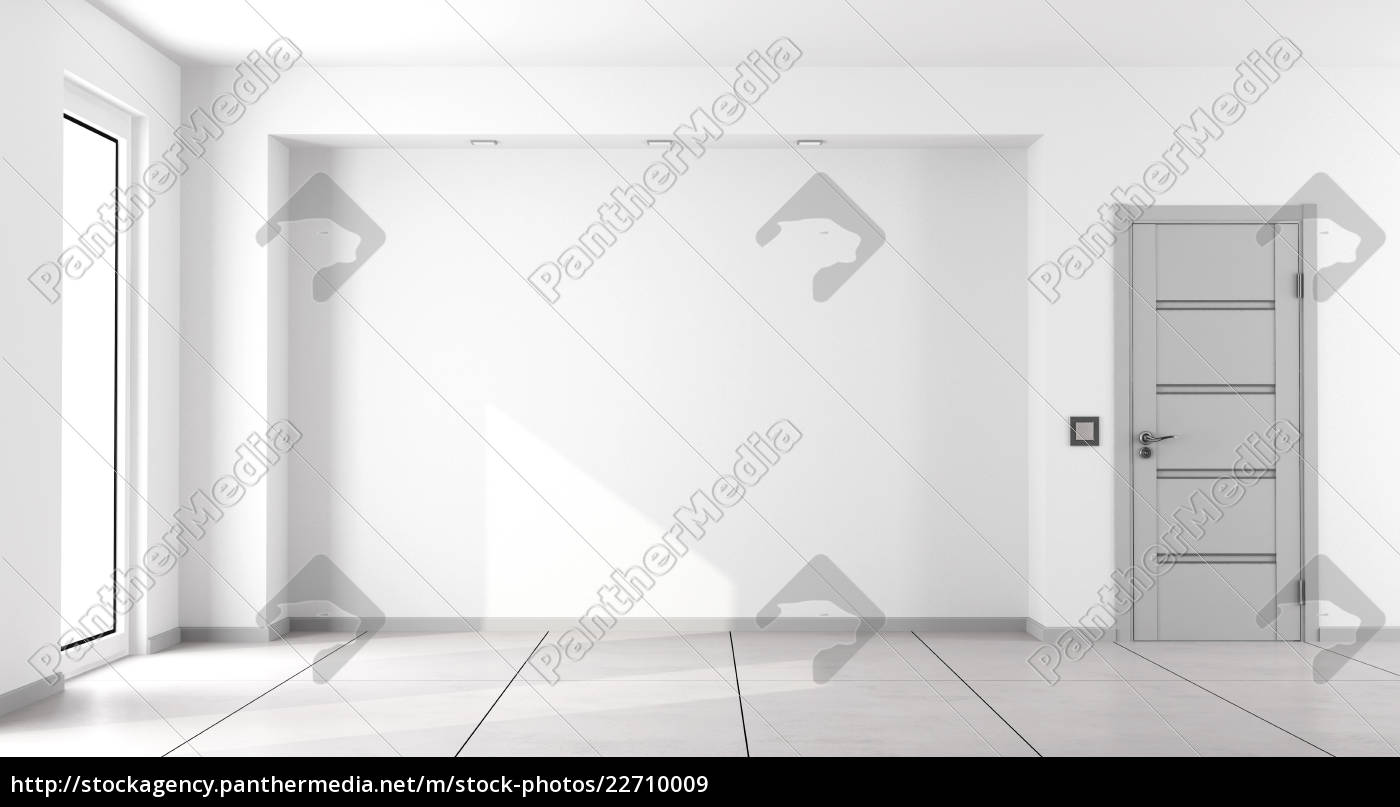 empty, white, minimalist, living, room - 22710009