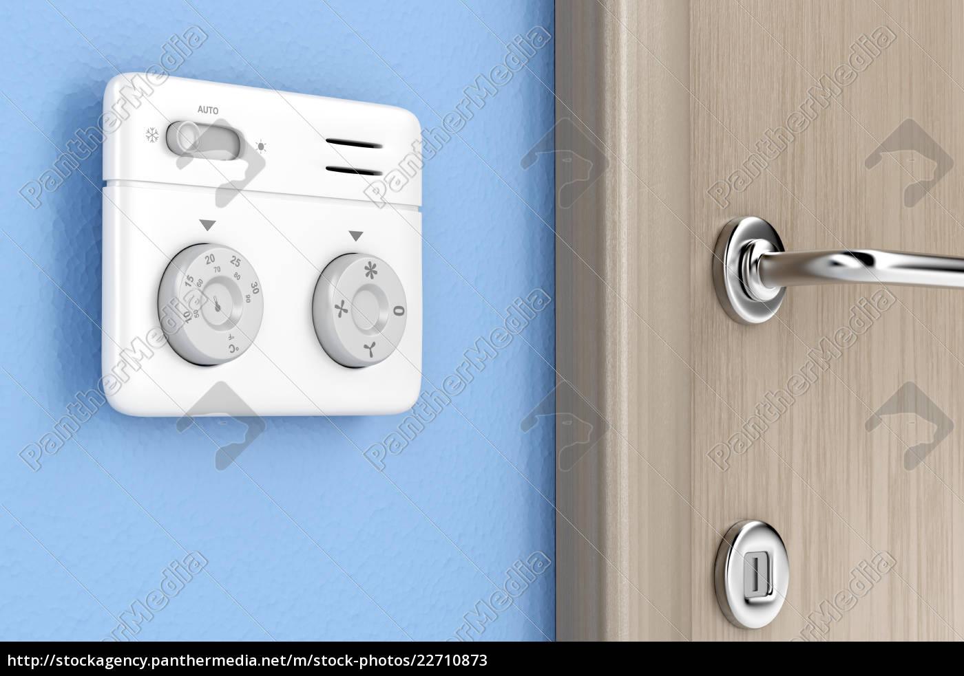 thermostat, on, the, wall - 22710873