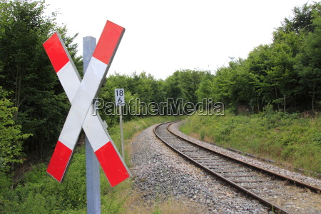 st andrews cross at a railroad