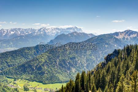 alpine view to mount zugspitze