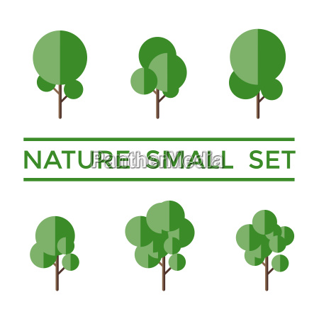 digital vector green nature small icons