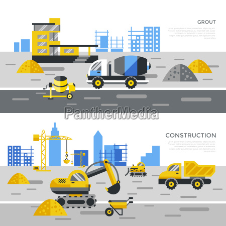 digital vector black construction building tracks
