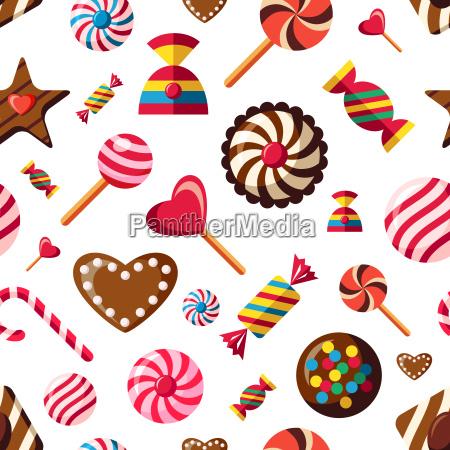 digital vector red brown sweet candies