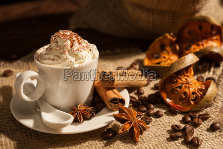 close up of coffee with whipped