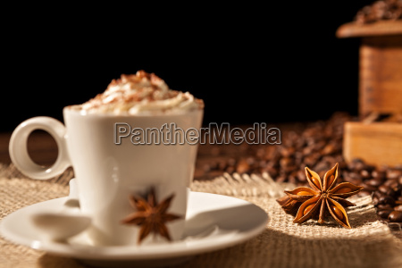 close up of coffee cup with
