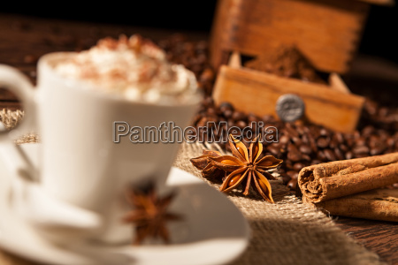 close up on star anise and