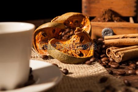 close up on dried orange fruit