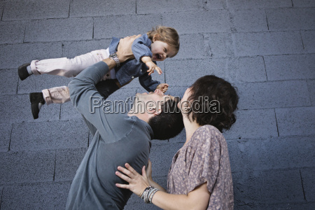 low angle view of woman and