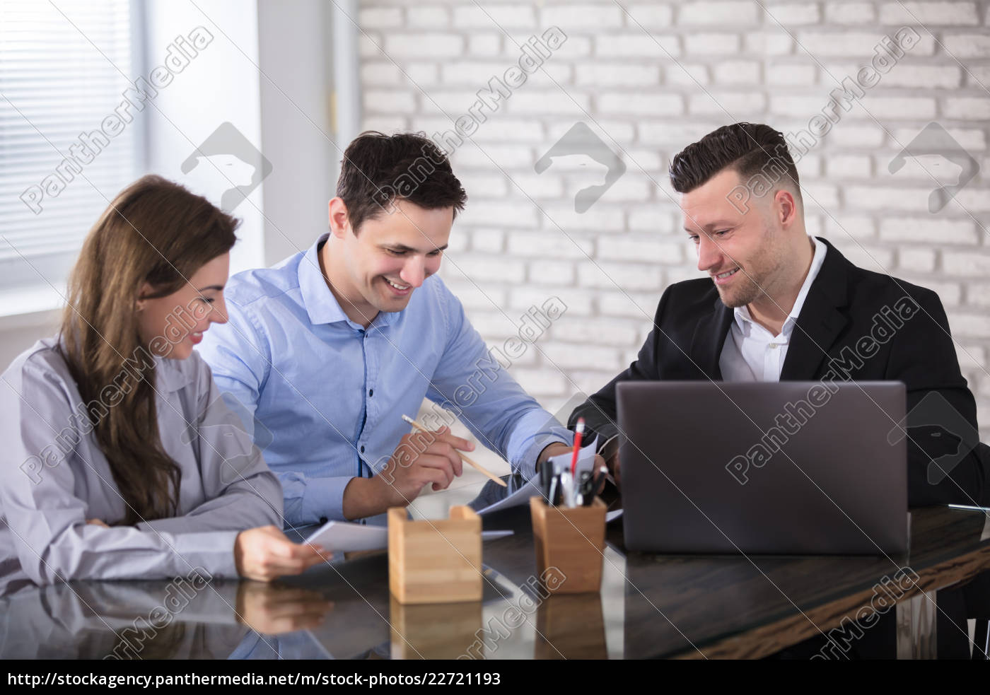 businesspeople, working, in, office - 22721193