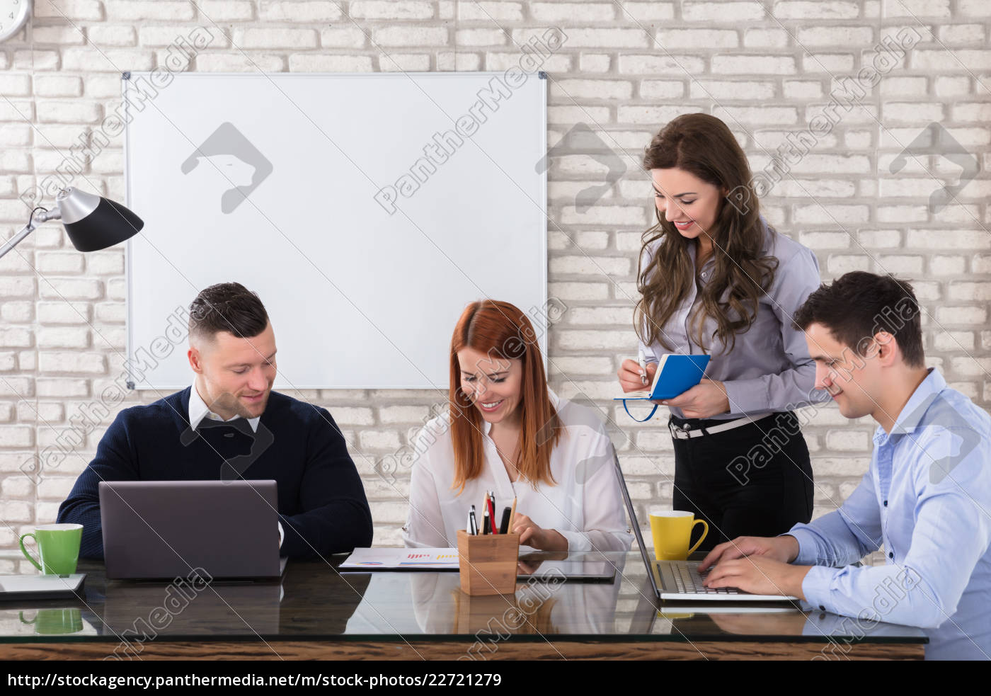 happy, business, people, doing, work, at - 22721279