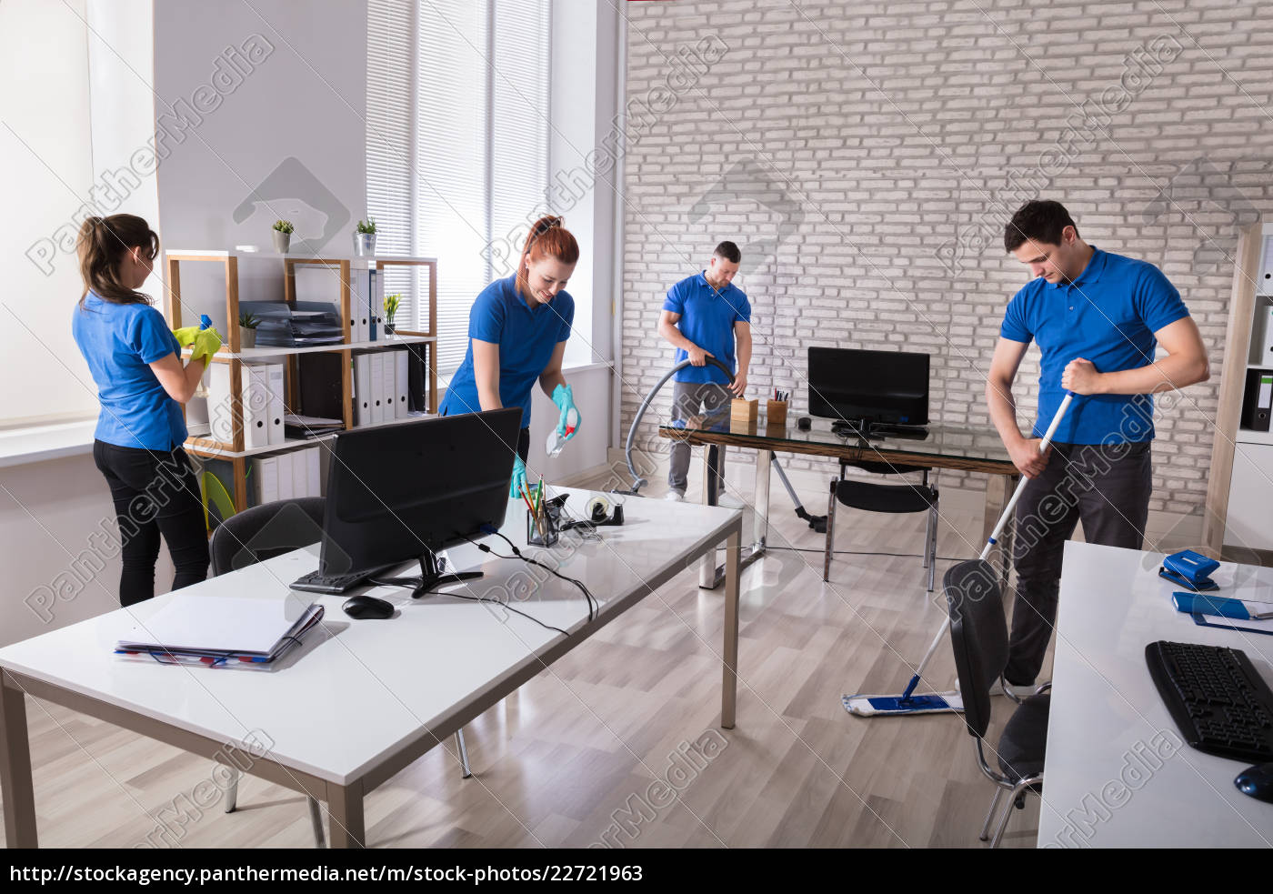 janitors, cleaning, the, office - 22721963