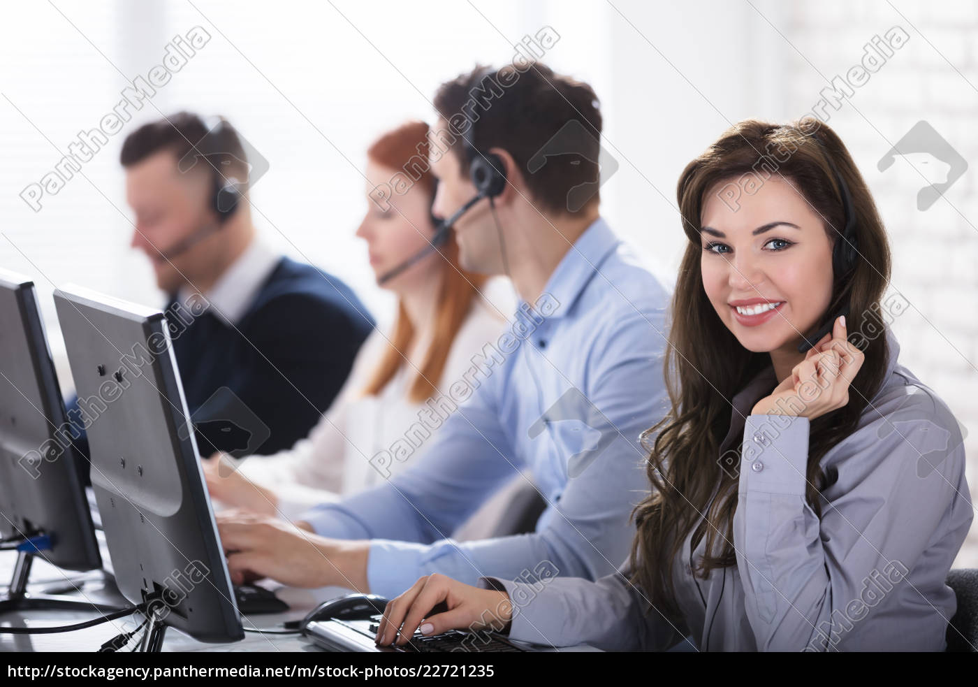 young, businesswoman, in, office - 22721235