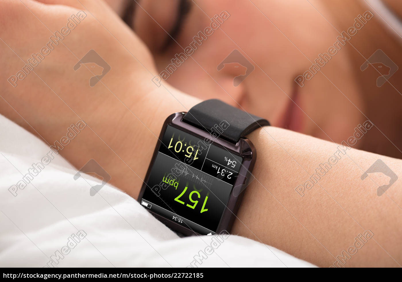 smart, watch, showing, heart, rate - 22722185