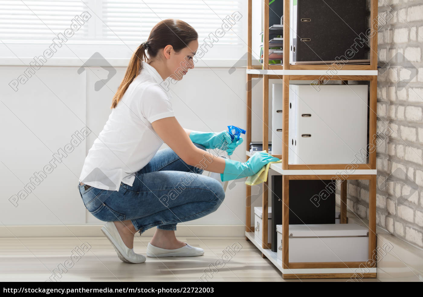 woman, cleaning, the, office - 22722003