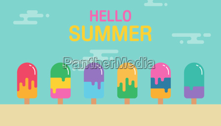 sweet summer background colorful of ice