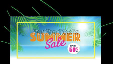 summer sale background for banner voucher