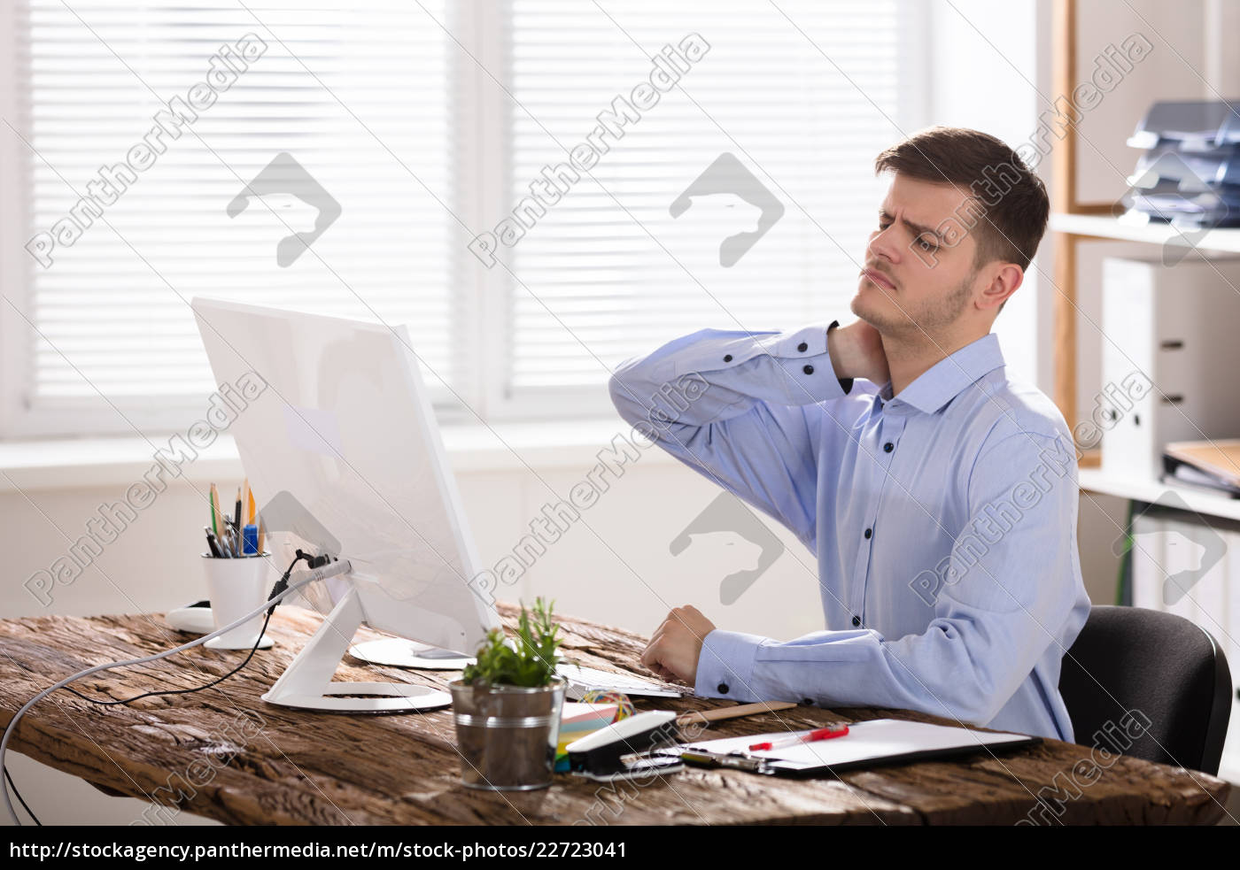 businessman, suffering, from, neck, ache - 22723041