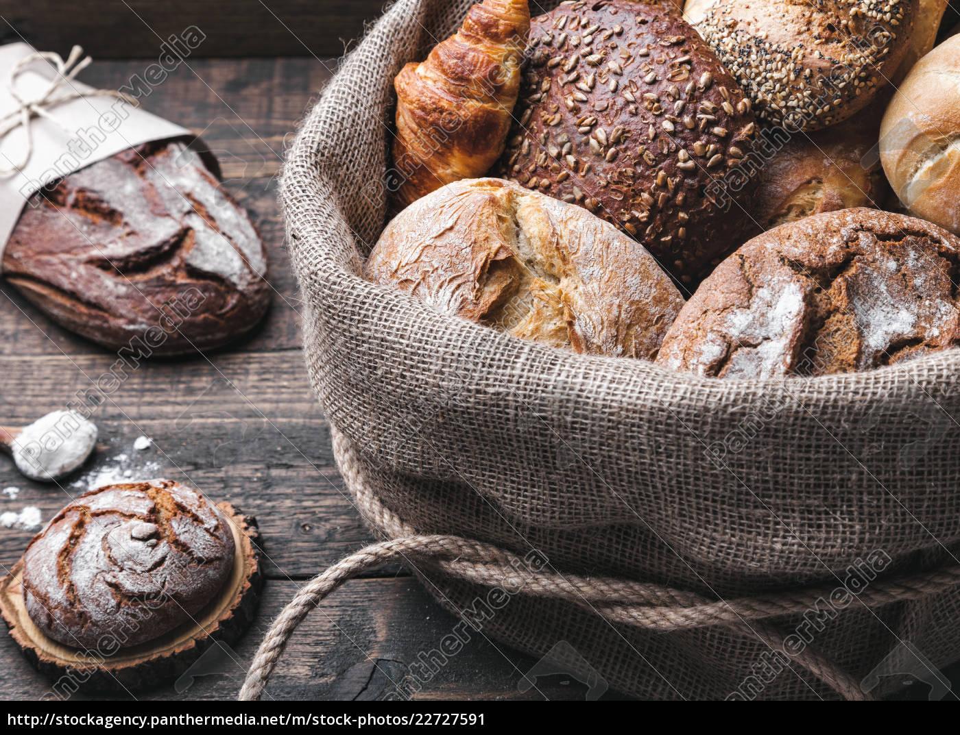 delicious, fresh, bread, inside, a, sack - 22727591