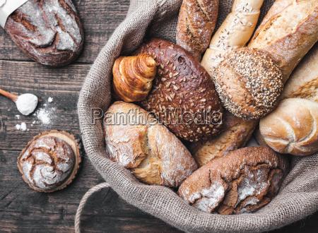 delicious, fresh, bread, inside, a, sack - 22727593