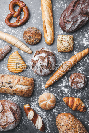 delicious, fresh, bread, on, rustic, background - 22727539