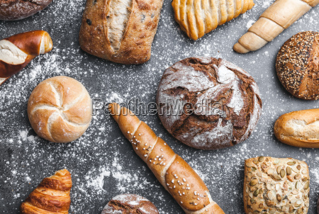 delicious, fresh, bread, on, rustic, background - 22727541