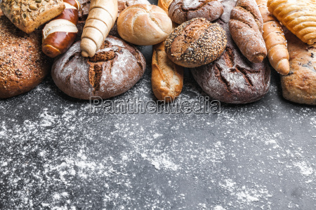 delicious, fresh, bread, on, rustic, background - 22727549