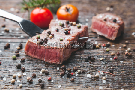 delicious, grilled, steak, with, seasoning, on - 22727527