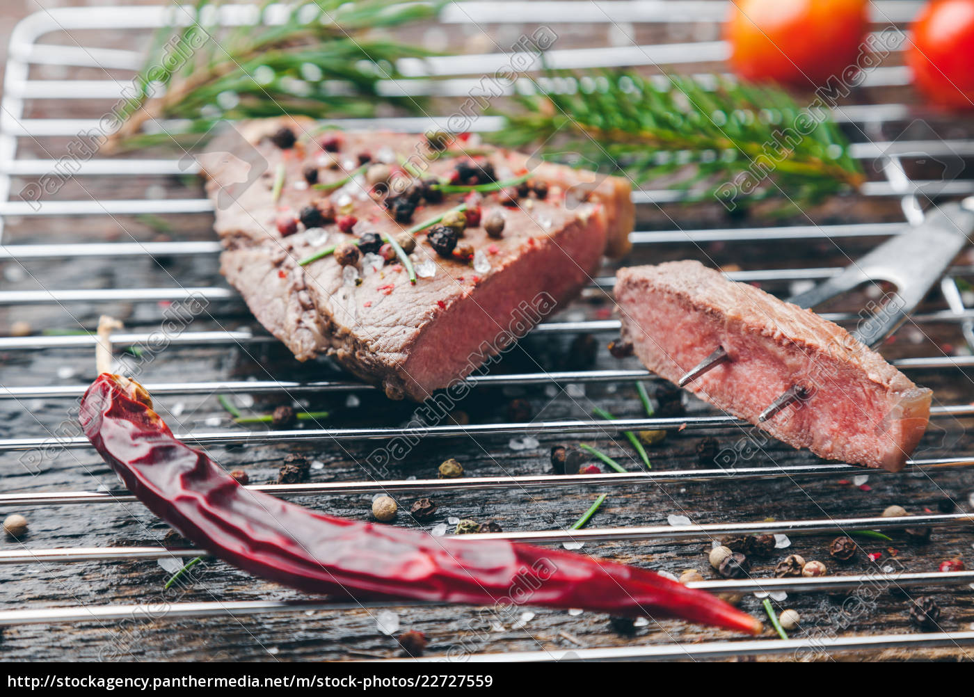 delicious, grilled, steak, with, seasoning, on - 22727559