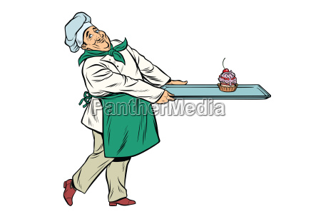 chef, cook, brings, a, tray, of - 22728477