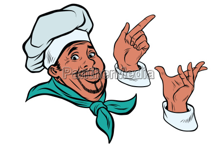 set, african, cook, and, hand, gestures - 22728509