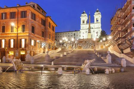 spanish steps at night rome italy