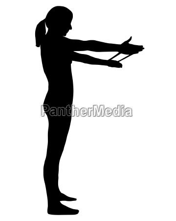 silhouette, of, a, woman, exercising - 22730045