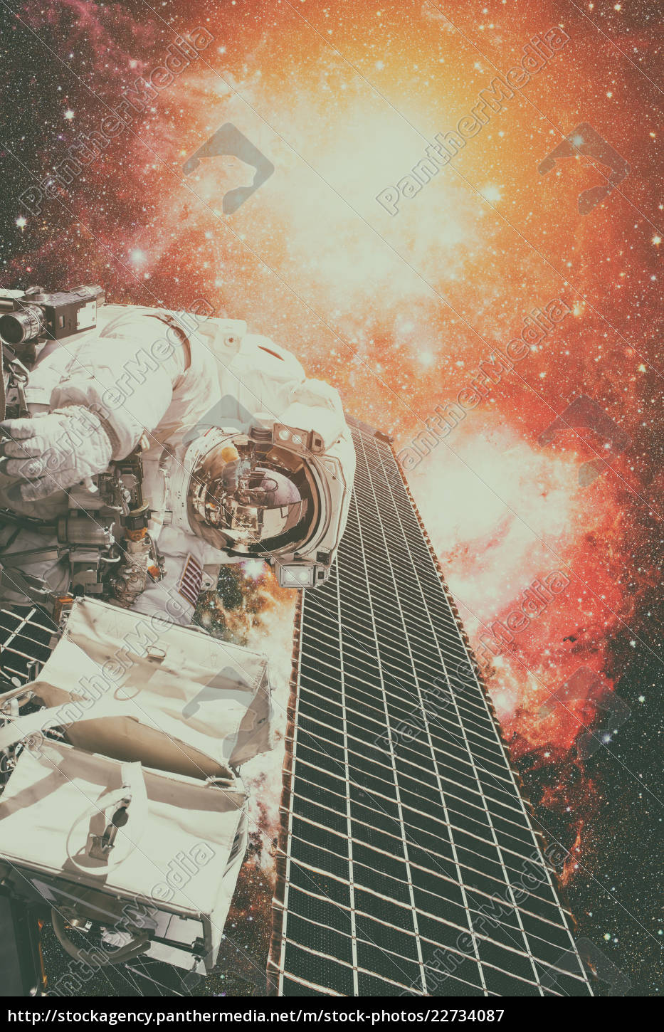 astronaut, on, space, mission., elements, of - 22734087
