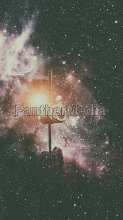 spacecraft, progress, orbiting, the, space. - 22734097