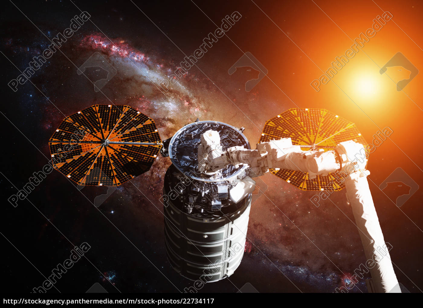 the, cygnus, spacecraft, in, open, space. - 22734117