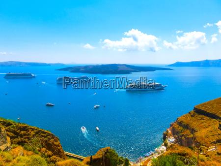 santorini greece the beautiful view