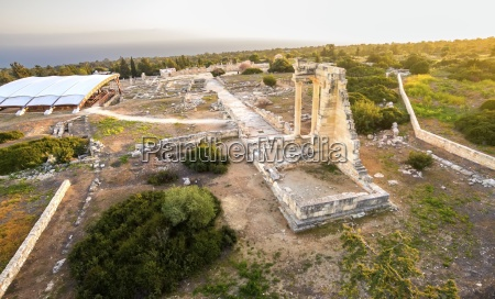 aerial view of ancient theatre of