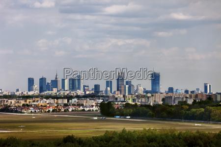 poland warsaw city skyline