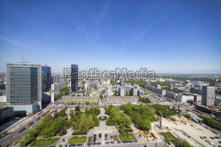 poland warsaw capital city downtown view