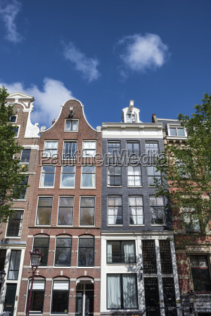 netherlands amsterdam historical canal houses