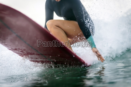 surfer on a wave partial view