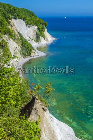 germany ruegen chalk cliff at jasmund