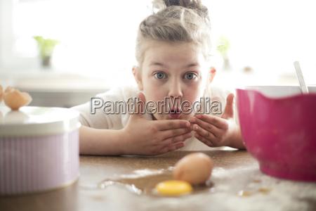 portrait, of, embarrassed, little, girl, in - 22746763