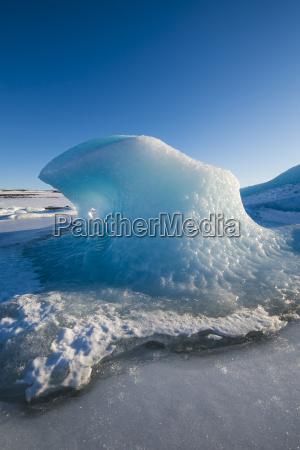 iceland wavy ice